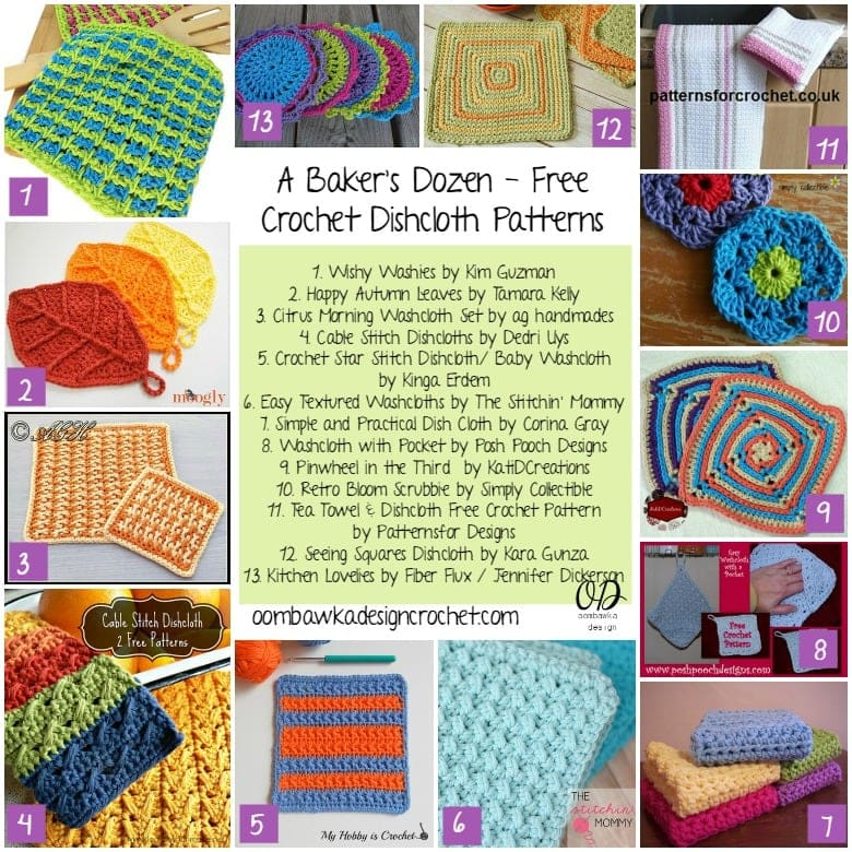 Crochet Dishcloth Round Up