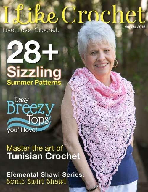 Cover Image | I Like Crochet August Issue Review @OombawkaDesign