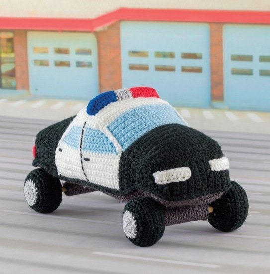 Police Car | Honk! Beep! Vroom! - Crochet Toys That Move | Review | @OombawkaDesign