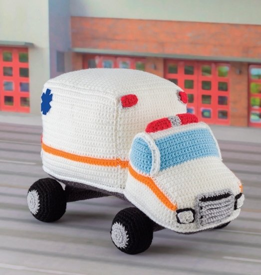 Ambulance | Honk! Beep! Vroom! - Crochet Toys That Move | Review | @OombawkaDesign