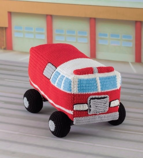 Fire Truck | Honk! Beep! Vroom! - Crochet Toys That Move | Review | @OombawkaDesign