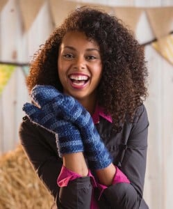 Zaftig Mittens | Cover | Quick Crochet Accessories (3 Skeins or Less) | Book Review | Oombawka Design