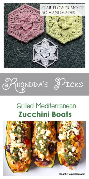 Rhondda's Picks Star Flower Motif - AG Handmades and  Grilled Mediterranean Zucchini Boats - Healthy Helper