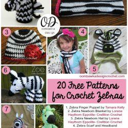 20 Free Patterns For Crochet Zebras   FCPF