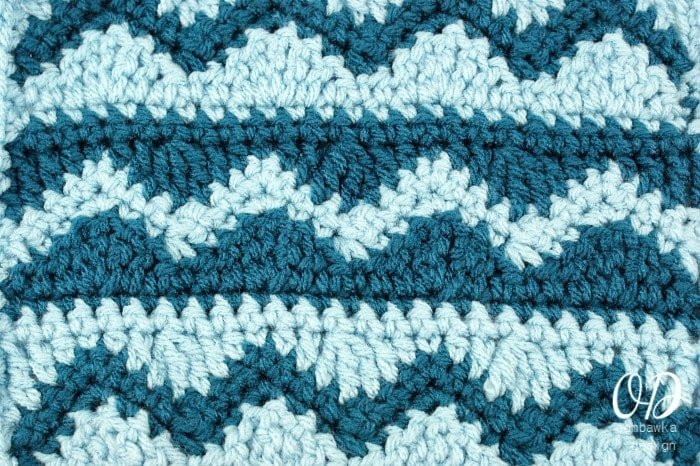 Crochet Wave Stitch : abbreviations r row sc single crochet hdc half double crochet