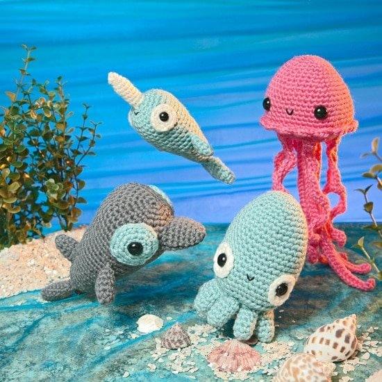 Sea Friends | Amigurumi Toy Box | Book Review | Oombawka Design