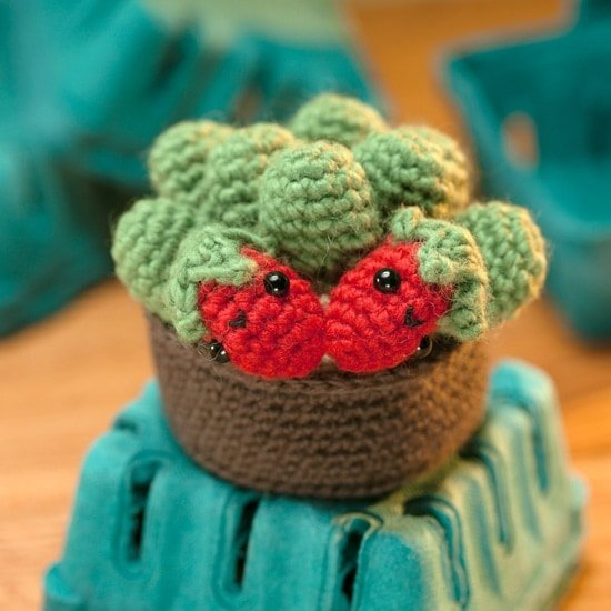 Strawberry | Amigurumi Toy Box | Book Review | Oombawka Design