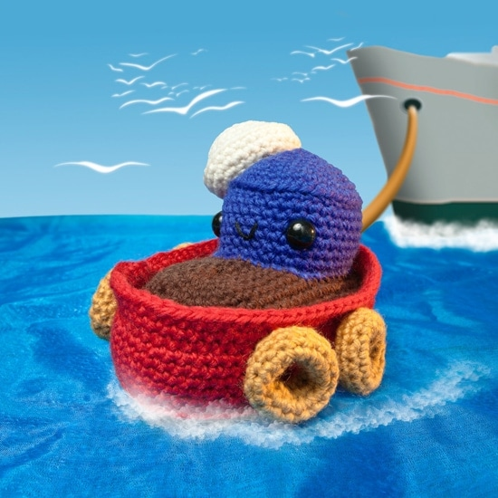Little Tugboat | Amigurumi Toy Box | Book Review | Oombawka Design