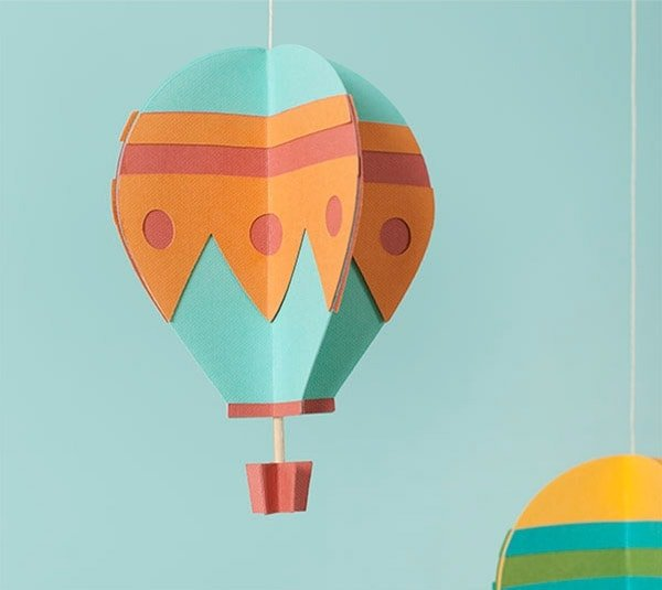 3D Hot Air Balloons Mobile