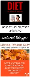 Featured Blogger - Sizzling Towards Sixty