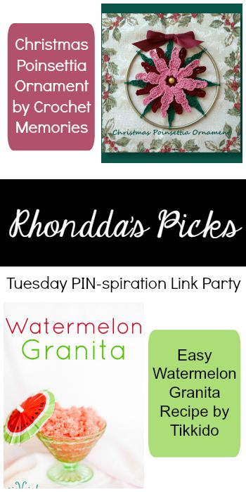 Rhondda's Picks |Star Flower Motif/Grilled Mediterranean Zucchini Boats | Tuesday PIN-spiration Link Party www.thestitchinmommy.com