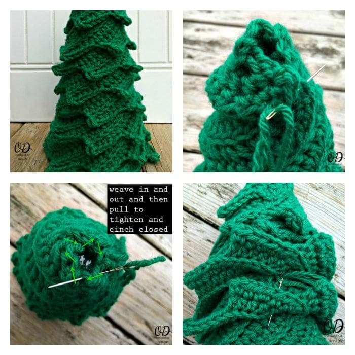 collage tree Star | Christmas Tree | Free Pattern | Oombawka Design