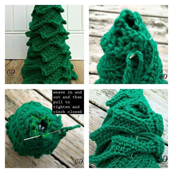 collage tree Star | Christmas Tree | Free Pattern | Oombawka Design
