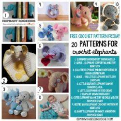 20 Free Patterns for Crochet Elephants   oombawkadesigncrochet.com