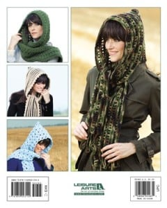 Back Cover | Hooded Scarves to Crochet | Book Review @OombawkaDesign