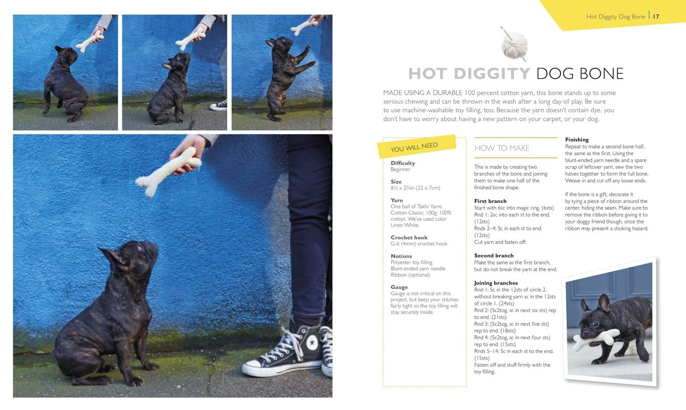 Hot Diggity Dog | One Ball of Yarn | Book Review | OombawkaDesign