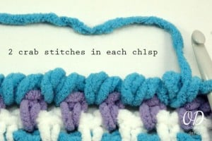 7 Crab Stitch | Reverse Single Crochet | Tutorial | Oombawka Design