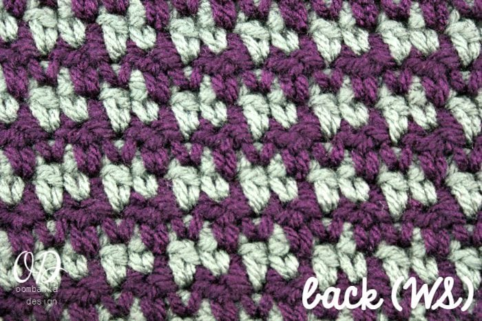 Back Wrong Side Houndstooth Crochet Stitch Tutorial LLANCS ...