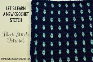 Block Stitch Tutorial | LLANCS | oombawkadesigncrochet.com