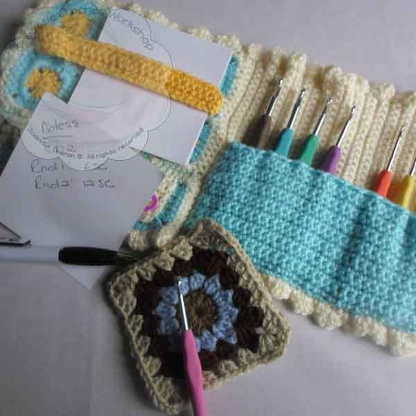 finished | A Granny Square Crochet Booklet | Guest Contributor Post | oombawkadesigncrochet.com