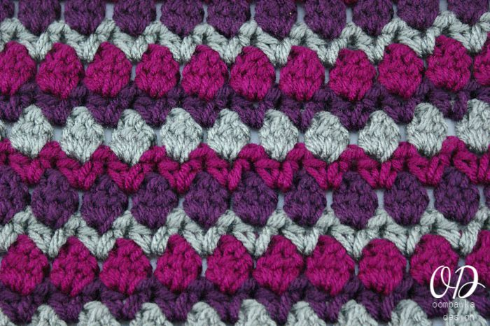 Close Up 12 Inch Fiona Square | Free pattern | Oombawka Design
