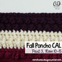 Crochet With Us – Fall Poncho CAL | Part 3