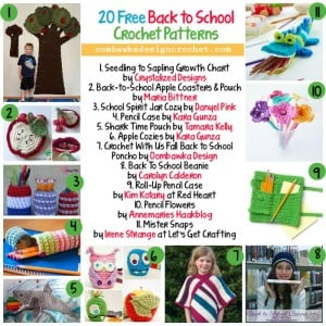 20 Free Patterns | Back to School| Oombawka Design