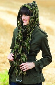 Warm and Woodsy | Hooded Scarves to Crochet | Book Review @OombawkaDesign