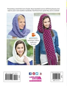 Back Cover | Hooded Scarves, Book 2 | Review @OombawkaDesign