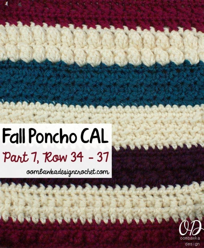 Fall Poncho CAL | Part 7 | Oombawka Design