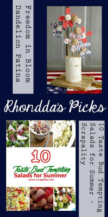 Rhonddas Picks - Dandelion Patina and scrapality