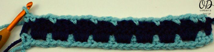 Row 3 | Block Stitch Tutorial | oombawkadesigncrochet.com