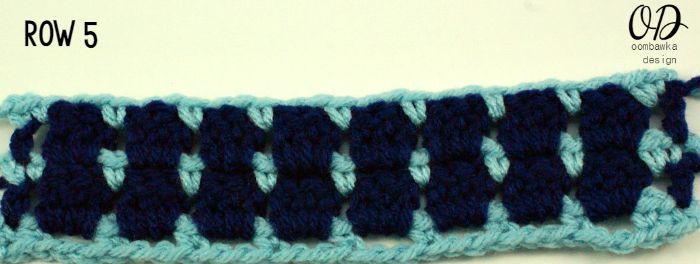 Row 5 | Block Stitch | oombawkadesigncrochet.com