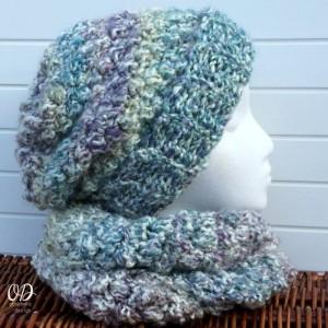with scarf | Simply scrumptious Hat | Free Crochet Pattern oombawkadesigncrochet.com