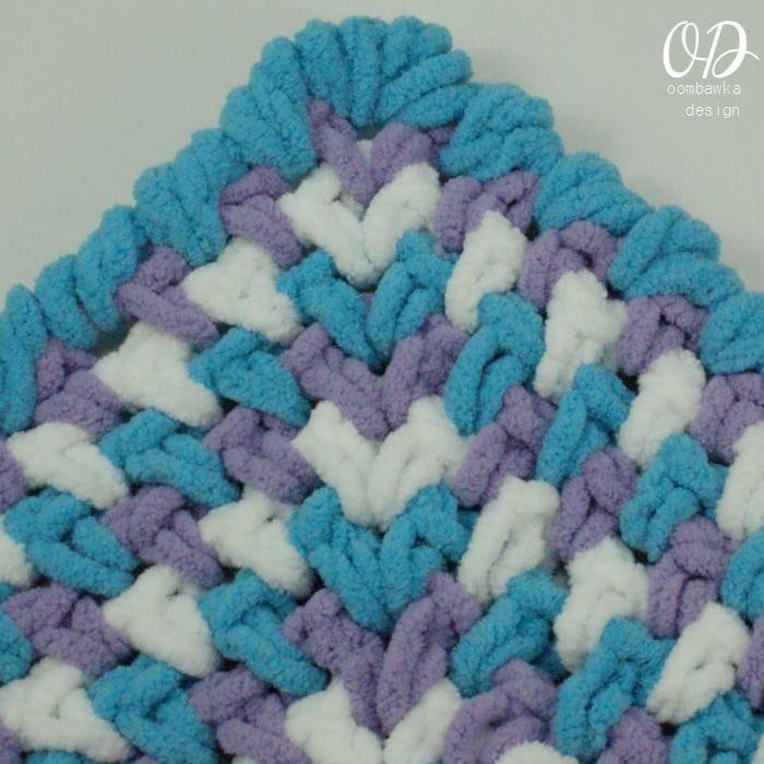 Baby Blanket Corner wider | Zoeys Baby Blanket | Free Pattern | Oombawka Design