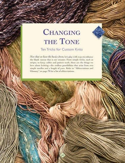 Changing the Tone | The New Knitter's Template | | Book Review | OombawkaDesign