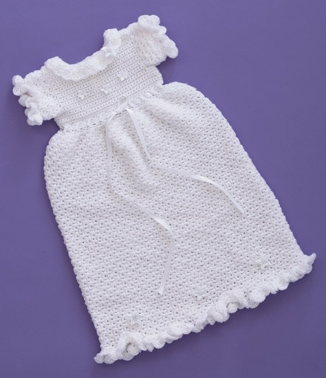 Christening Dress | Sweet Baby Crochet | Book Review | Oombawka Design