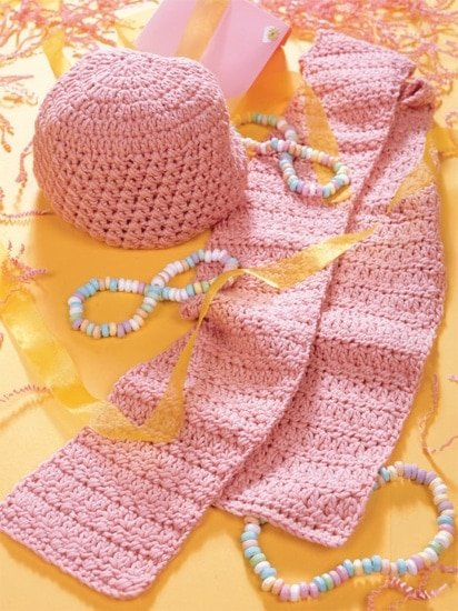 Pretty Pink Hat and Scarf | Crochet from the Heart | Book Review | Oombawka Design