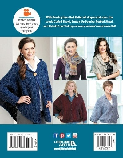 The Cuffed Shawl And More Book Review Oombawka Design Crochet