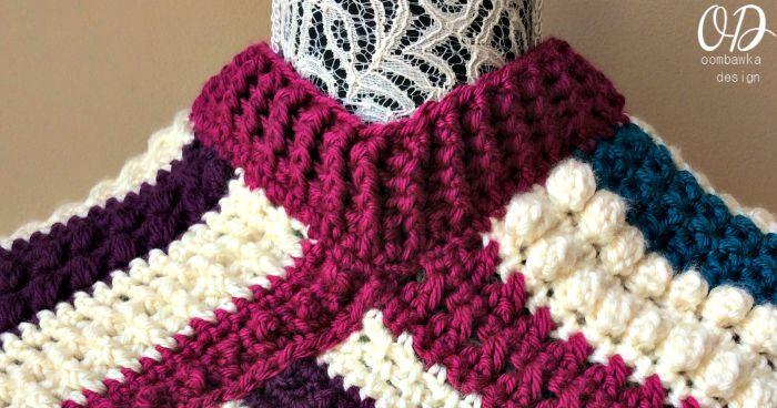 neckline | Fall Poncho CAL | Oombawka Design