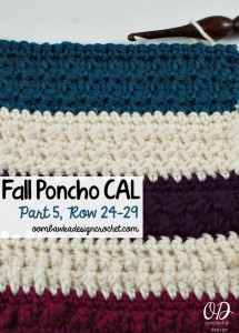 Crochet With Us Fall Poncho CAL Part 5
