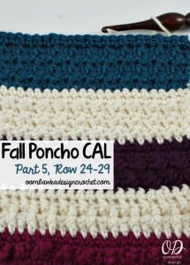 Fall Poncho CAL | Part 5 | Oombawka Design