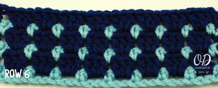 Row 6 | Block Stitch | oombawkadesigncrochet.com