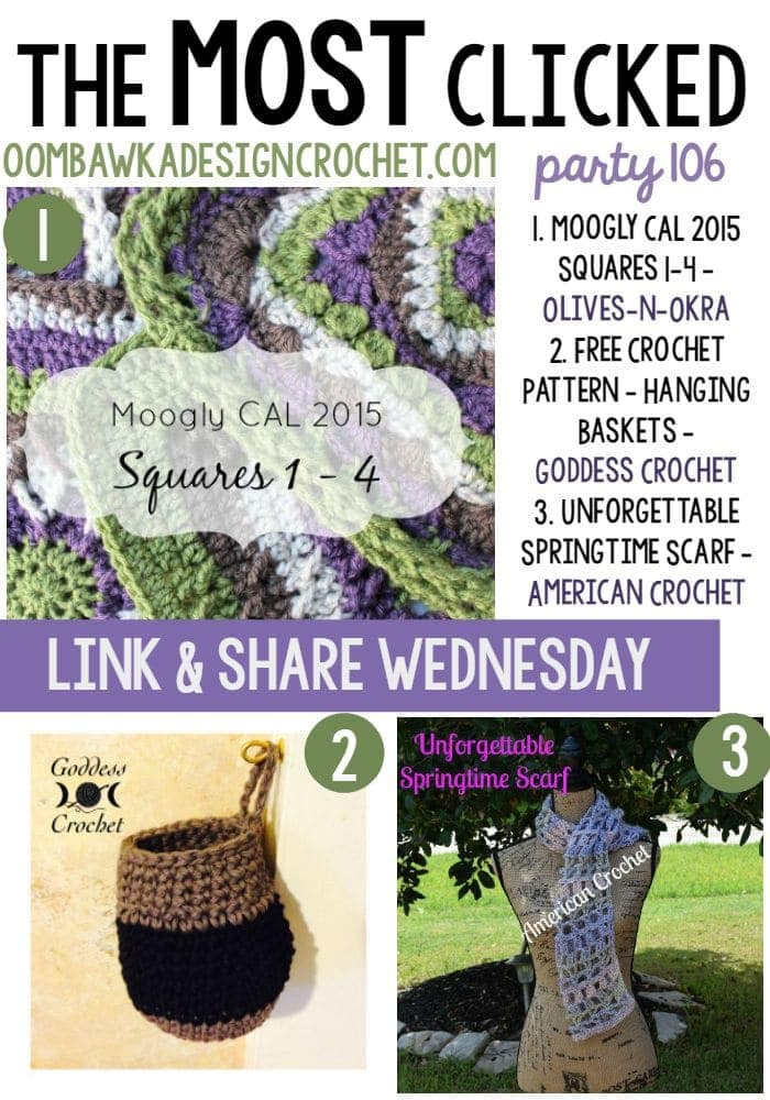 the most clicked - link party 106 - oombawkadesigncrochet.com