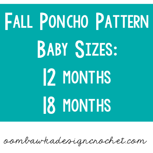 12 months and 18 months Poncho oombawkadesigncrochet.com