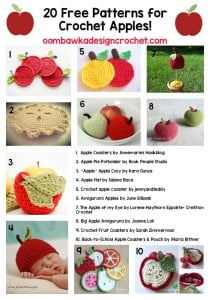 20 Free Patterns for Crochet Apples