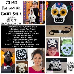 20 Free Patterns for Crochet Skulls | FCPF