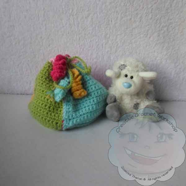 LITTLE TREASURE POUCH FREE PATTERN GCP JOANITA THERON CREATIVE CROCHET WORKSHOP