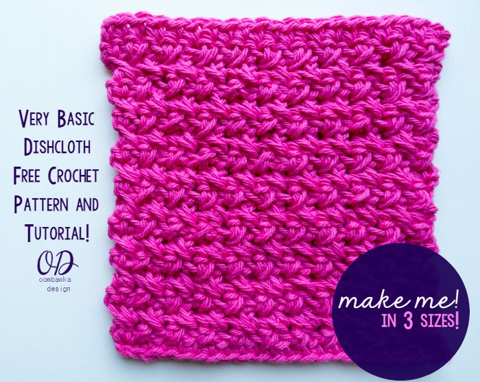 Very Basic Dishcloth - Free Pattern in 3 Sizes