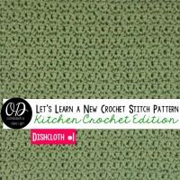 The Simplest Crochet Dishcloth | LLANCS | Kitchen Crochet Edition